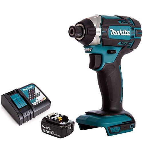 Pack Visseuse à chocs sans fil Makita DTD152Z 18 V LXT avec 1 batterie 4,0 Ah et chargeur