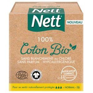 Tampons avec applicateur Nett Pure Normal BIO - 16 pièces (via 2.42€ sur la carte fidélité)