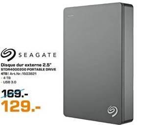 "Disque dur externe 2.5"" Seagate Backup Plus USB 3.0 - 4 To"