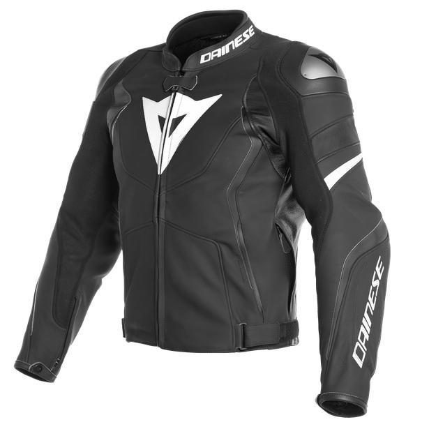 Veste de moto en cuir Avro 4 - Noir/Blanc (dainese.com)