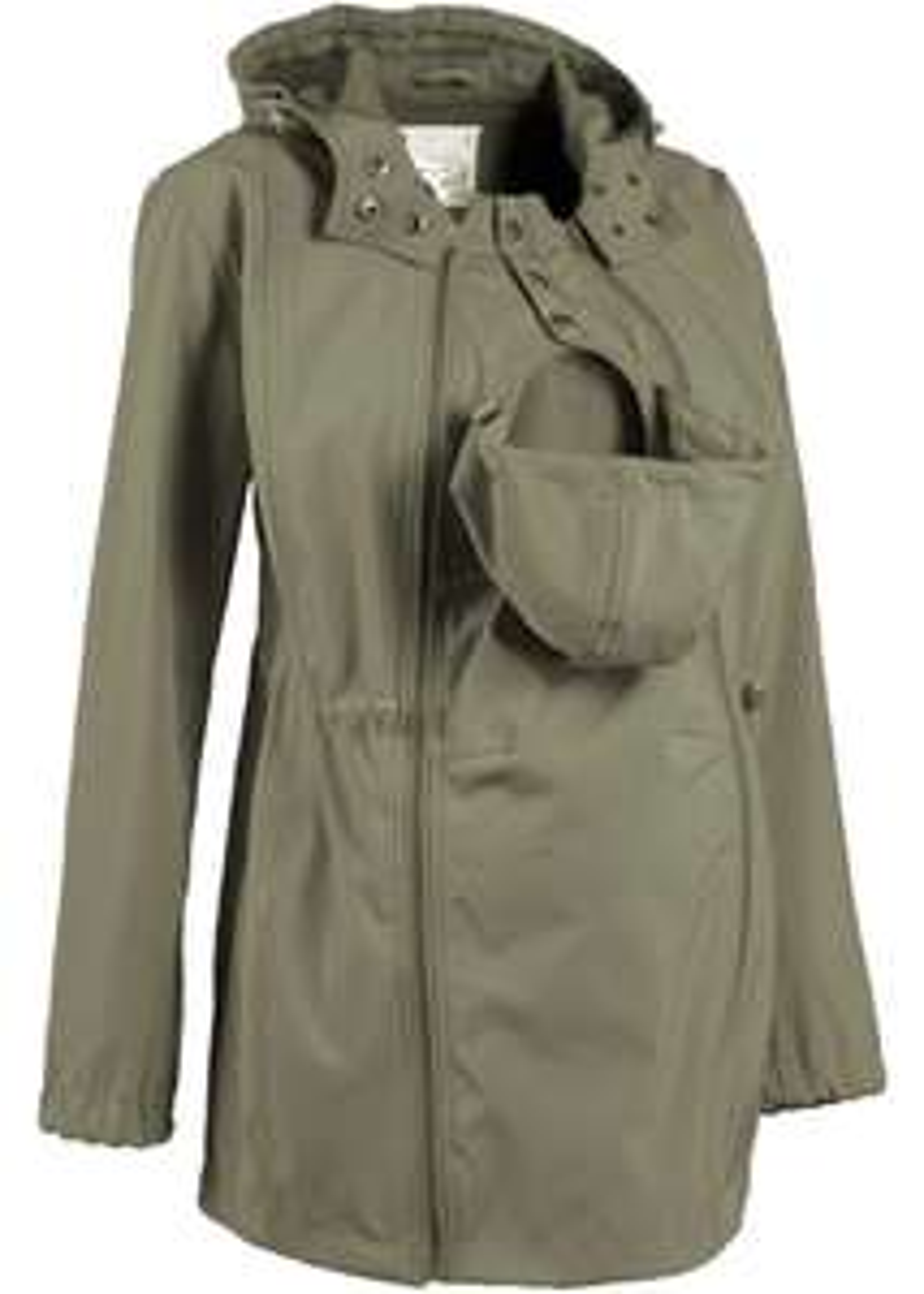 Veste de grossesse et portage softshell - Olive, Plusieurs tailles