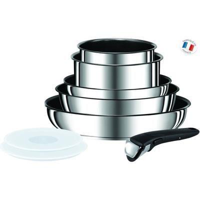Batterie de cuisine Tefal Ingenio Preference L9409802 - 8 pièces, 18-20-22-24-28cm Tous feux dont induction inox