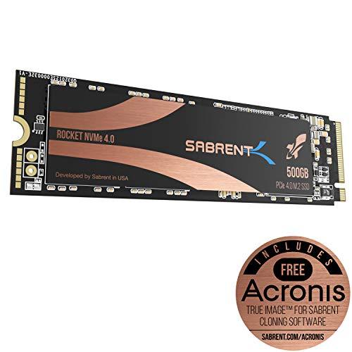 SSD interne M.2 NVMe Sabrent Rocket - 512 Go, PCIe 4.0 (Vendeur tiers)