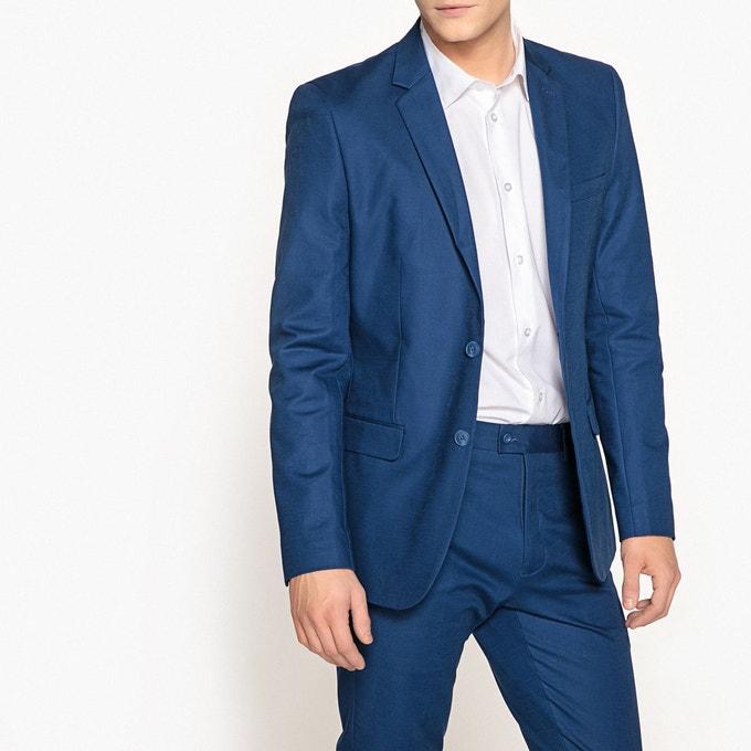 Veste de costume Slim pour Hommes - Bleu, Tailles 44 et 46