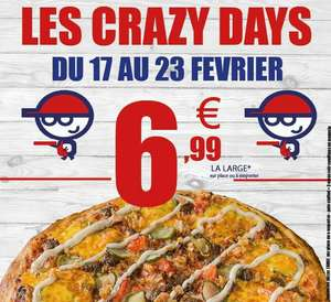 Toutes les pizzas larges à 6.99€ - Capitaine Pizza Kingersheim (68)