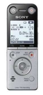Dictaphone Numérique Sony ICD-SX733 - Noir/Argent, 4 Go