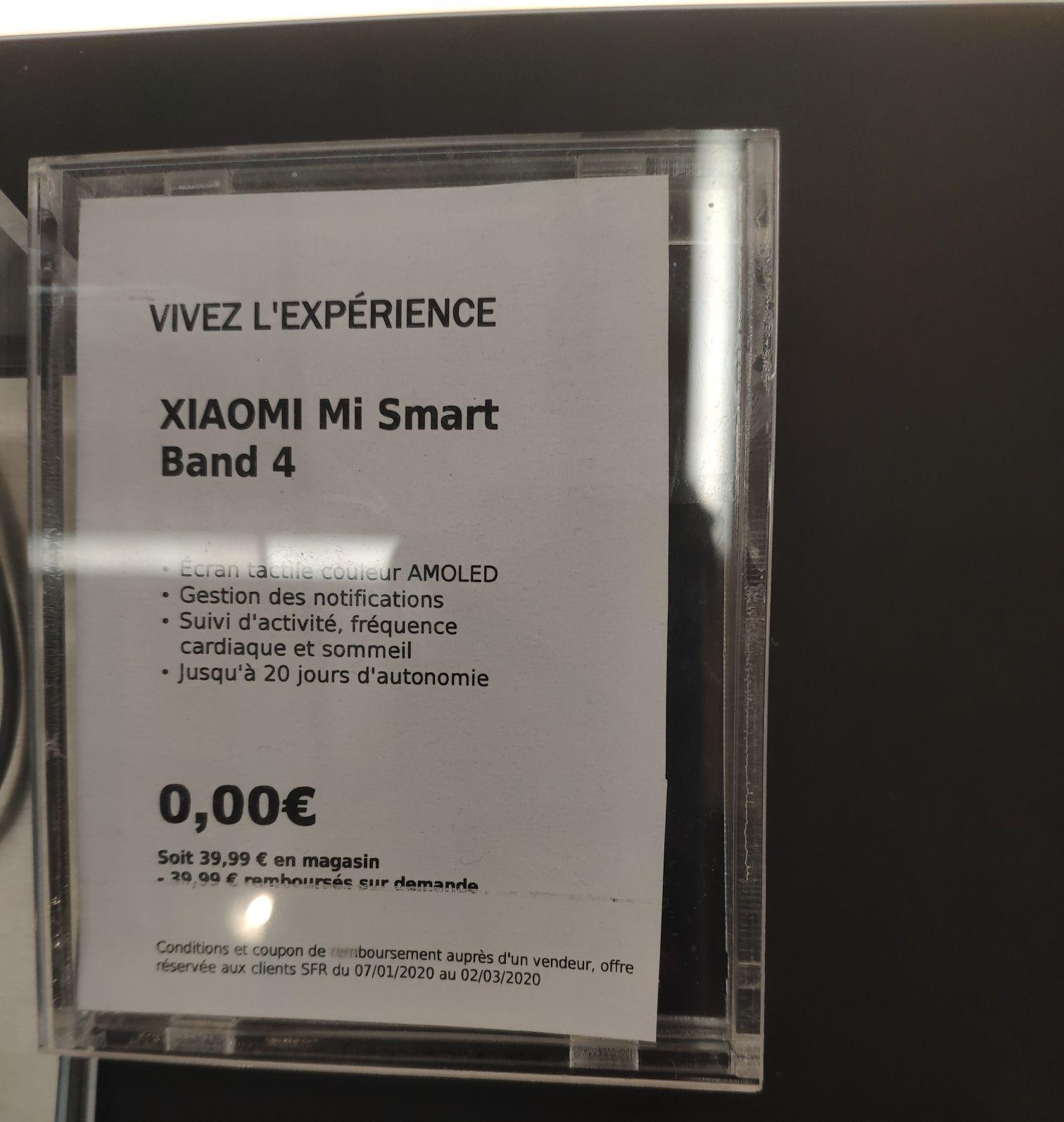 [Client SFR] Bracelet Mi Band 4 offert (via ODR) pour l'achat d'un Xiaomi Mi Note 10 - Argenteuil (95)