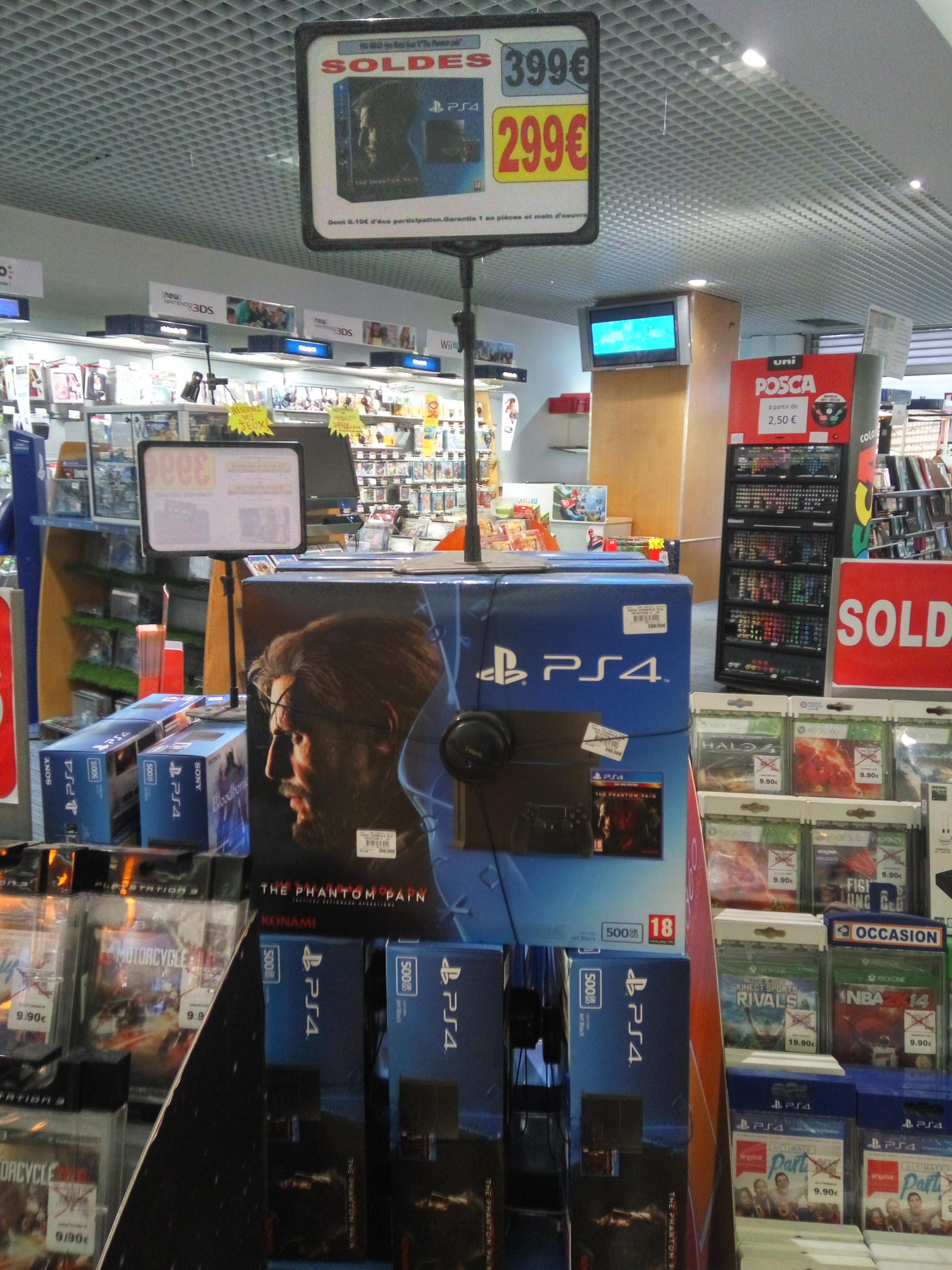 Playstation 4 500go (Châssis C) + Metal Gear Solid V