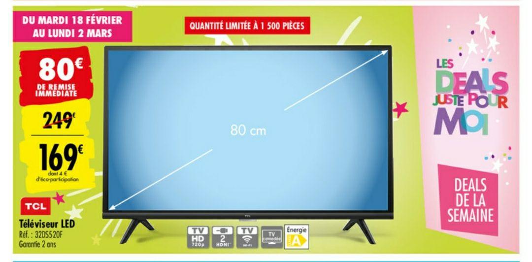 """TV 32"""" TCL 32DS520F - LED, Full HD, Smart TV"""