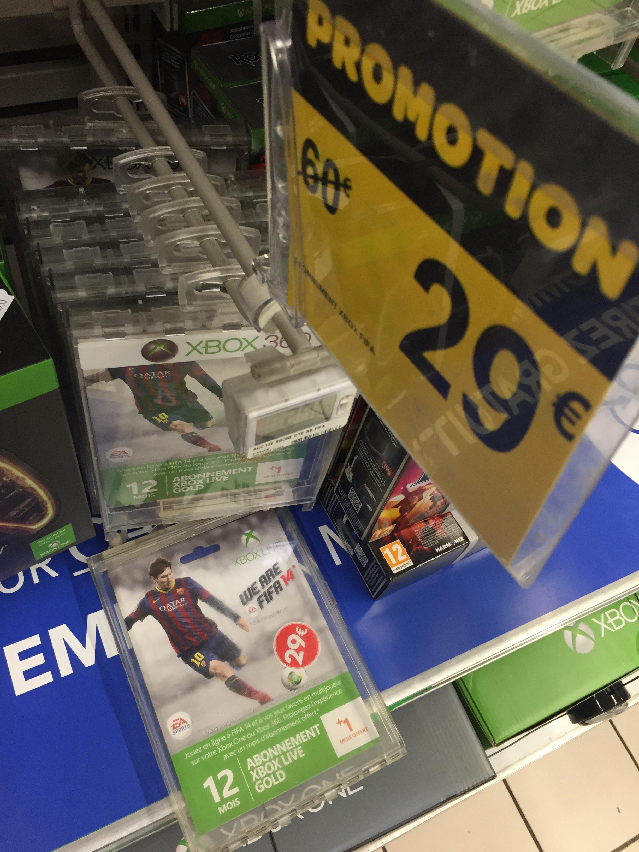 Abonnement Xbox Live 12 mois + 1 mois gratuit