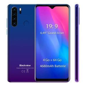 "Smartphone 6.49"" Blackview A80 Pro - HD+, MT6757V, 4 Go RAM, 64 Go ROM (vendeur tiers)"
