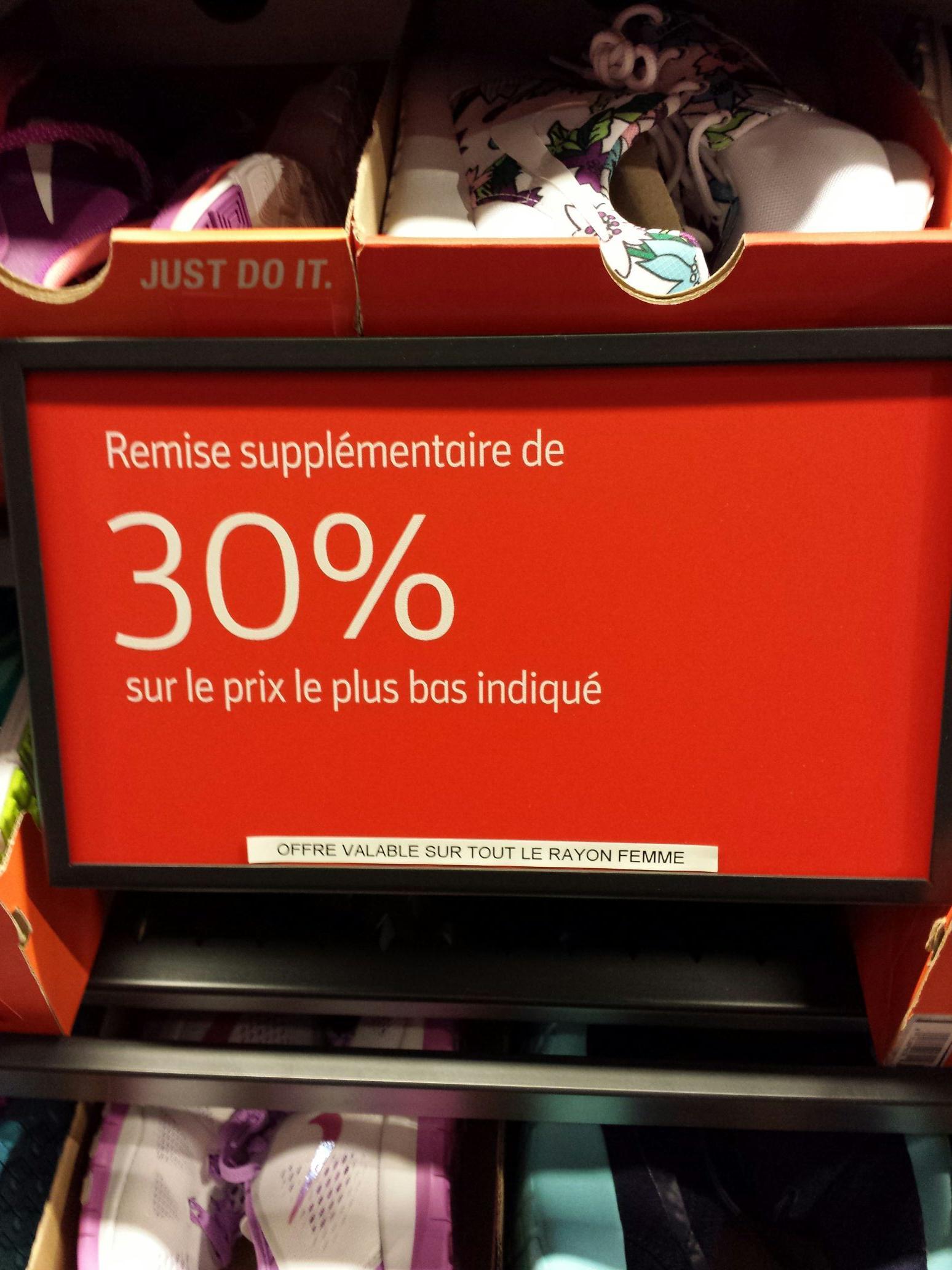 30% de réduction supplémentaire sur les baskets Femmes