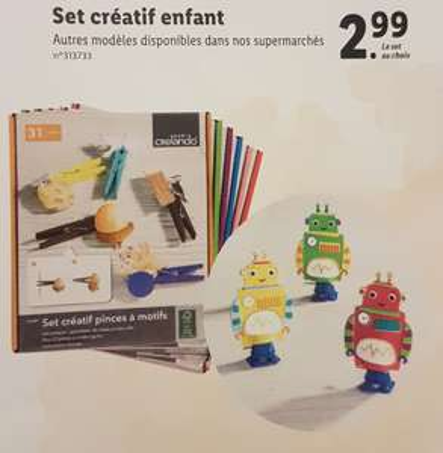 Set Créatif Crelando pour Enfants - Modèles au choix