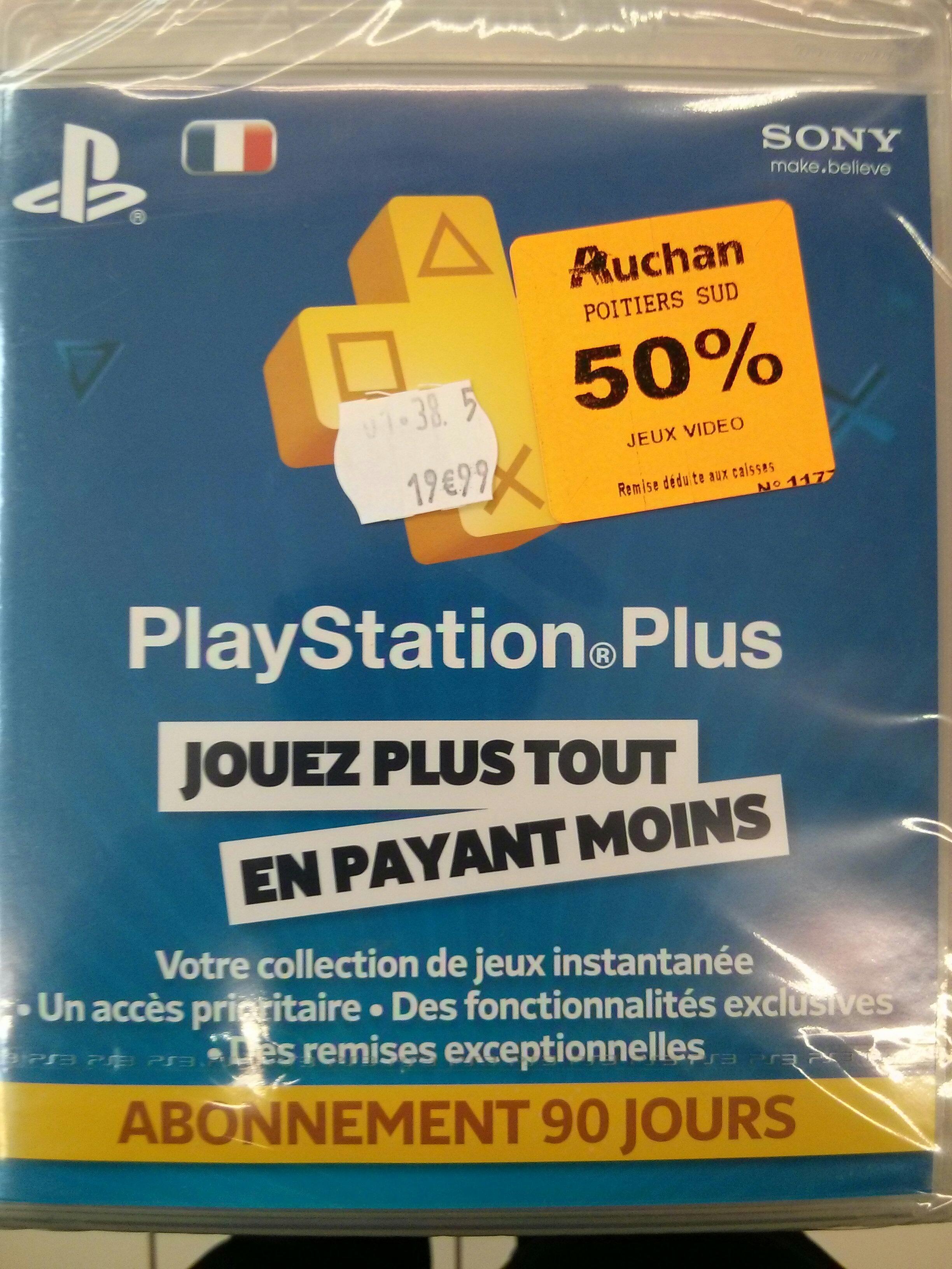 Code d'abonnement PlayStation Plus 90 jours