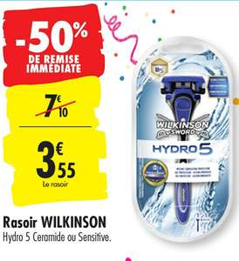 Rasoir manuel Wilkinson Hydro 5 Ceramide ou Sensitive