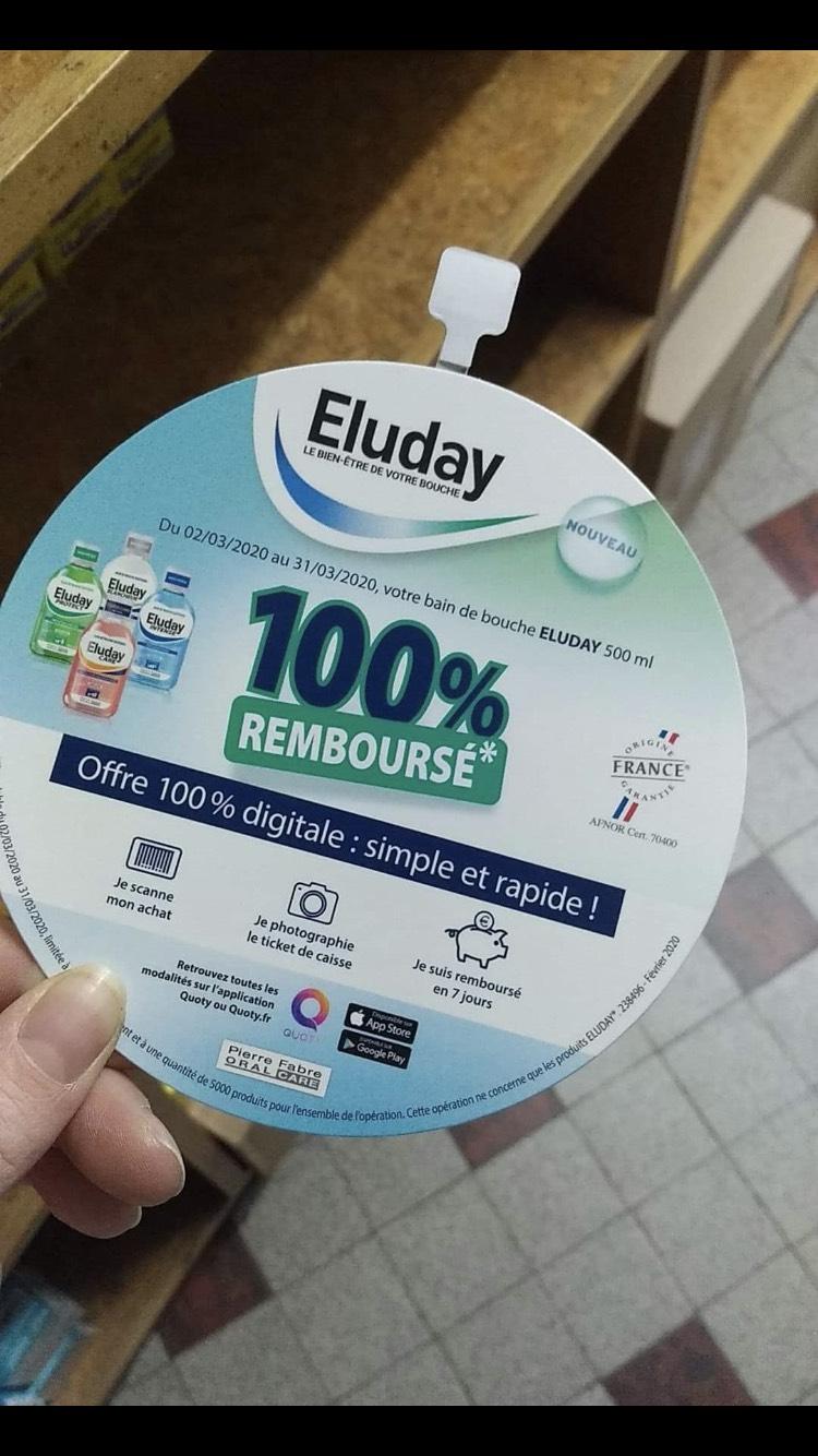 Bain de bouche Pierre Fabre Oral Care Eluday gratuit - 100% remboursé (via Quoty)