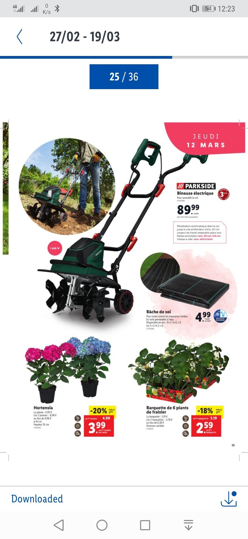 Sélection de produits Jardin et extérieur en promotion - Ex : bineuse électrique ParkSide (1400 W, 400 trs/min)
