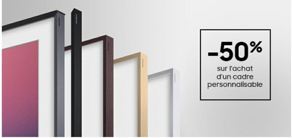 50% de réduction sur les Cadres pour TV Samsung The Frame