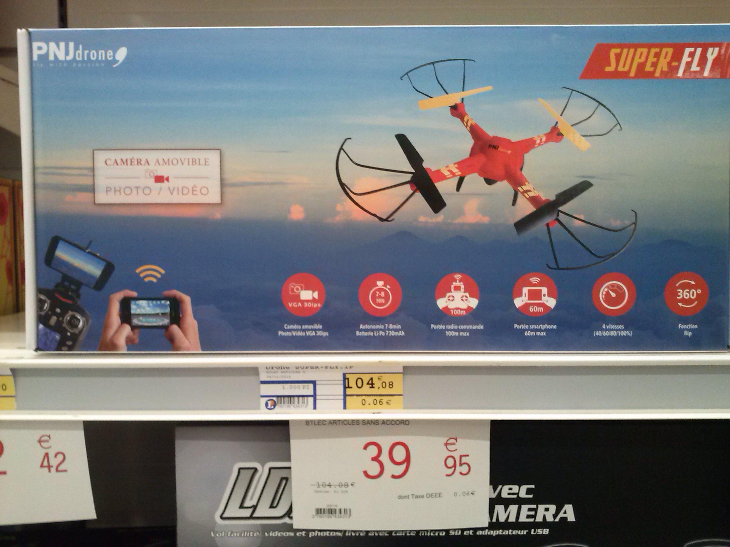 Drone PNJ Super-fly avec caméra embarquée