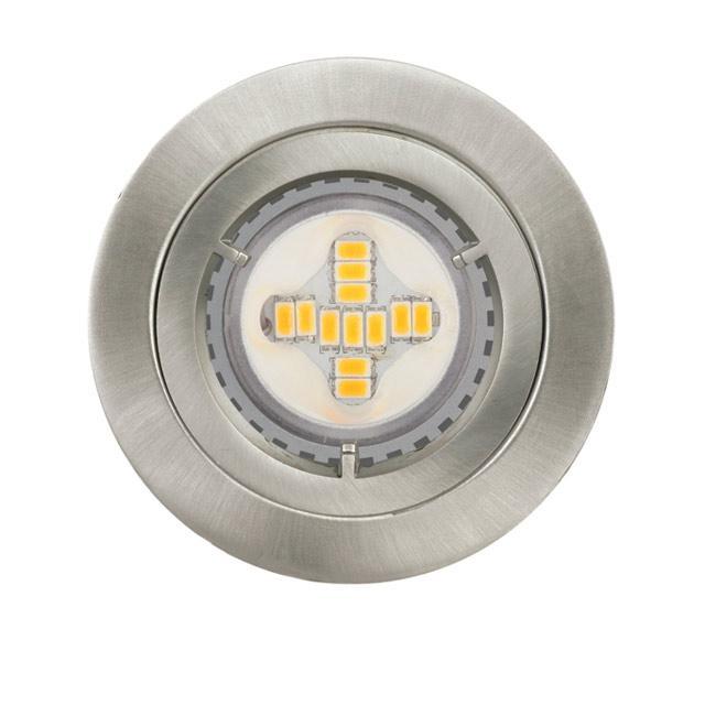 Lot 3 spots LED Acier Diall à encastrer pour extérieur