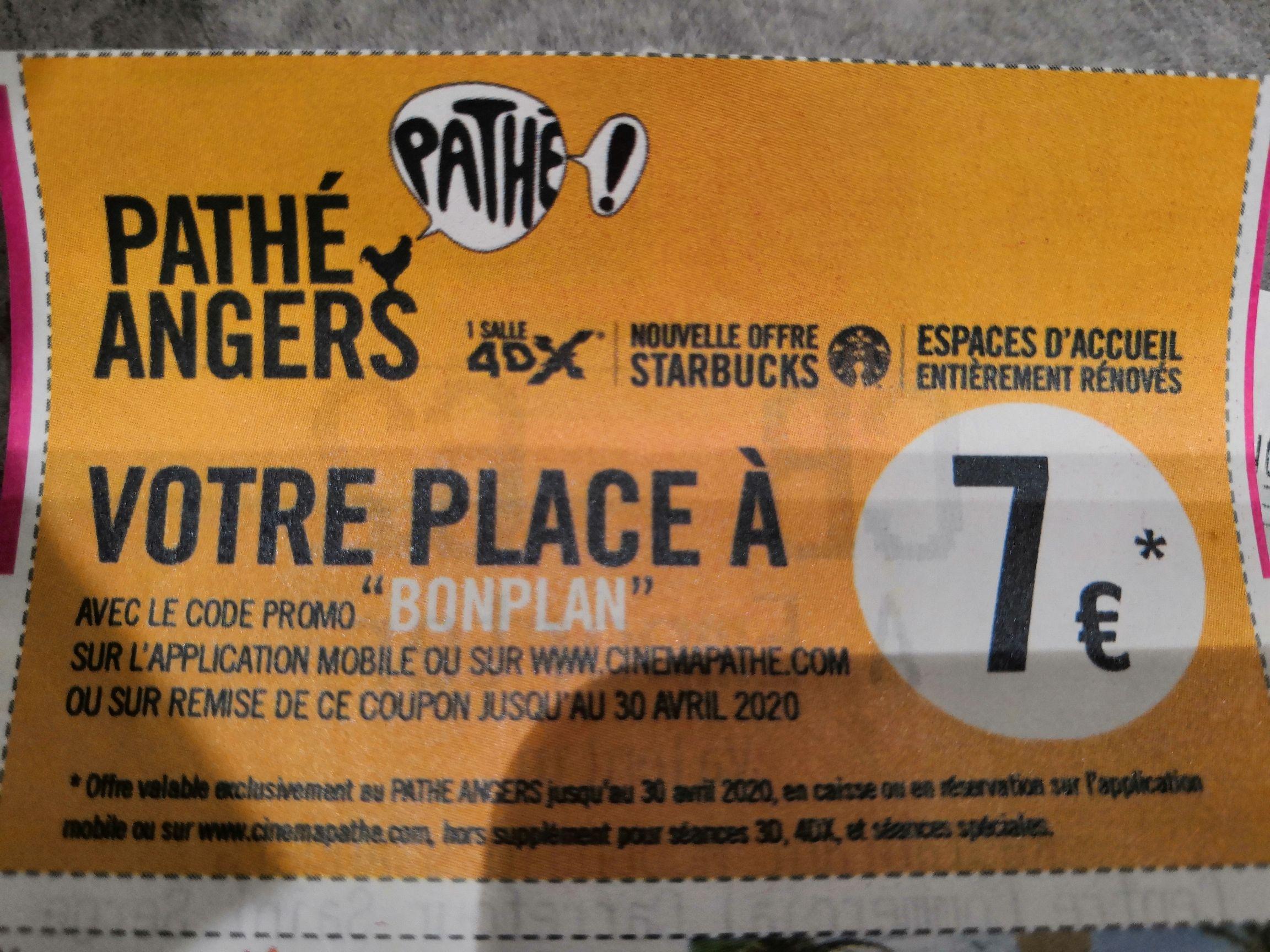 Place de cinéma à 7€ - Gaumont Pathé Angers (49)