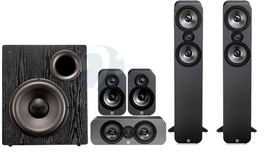 Pack Home cinéma Q-Acoustics QA3050 + PB12 NSD