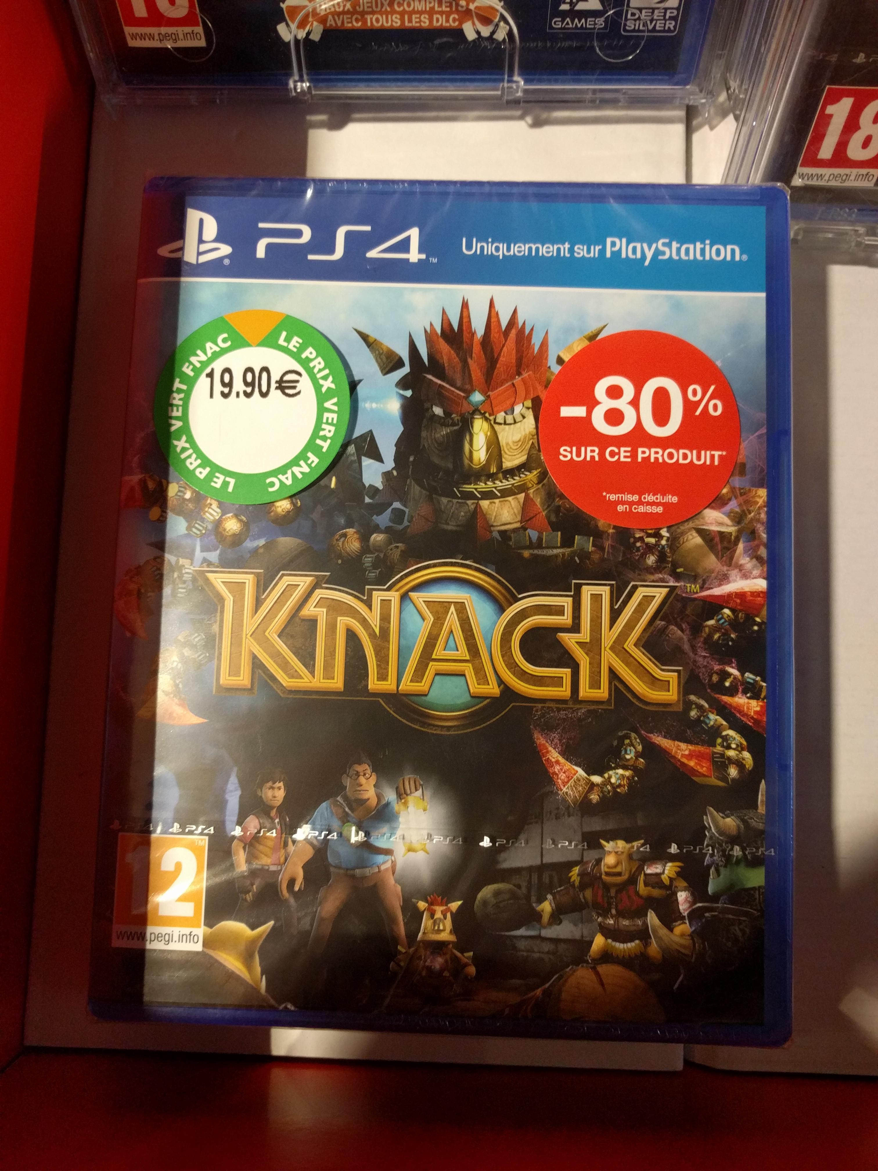 Sélection de jeux PS4 en promo - Ex : Knack sur PS4