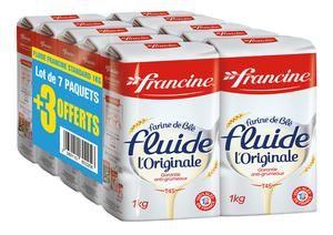 Le lot de 10 paquets de farine Francine (10 x 1kg)