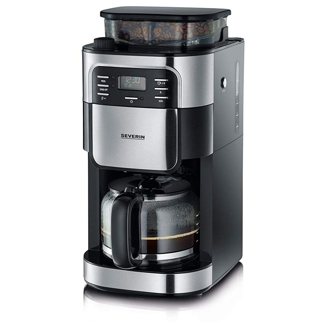 Cafetière filtre Severin 4810 avec broyeur intégré - 1000W, 1.4L