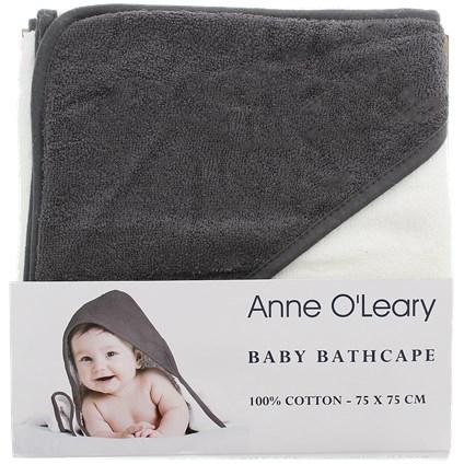 Cape de bain Anne O'Leary pour Bébé - 100% coton, 75 x 75 cm, Divers coloris