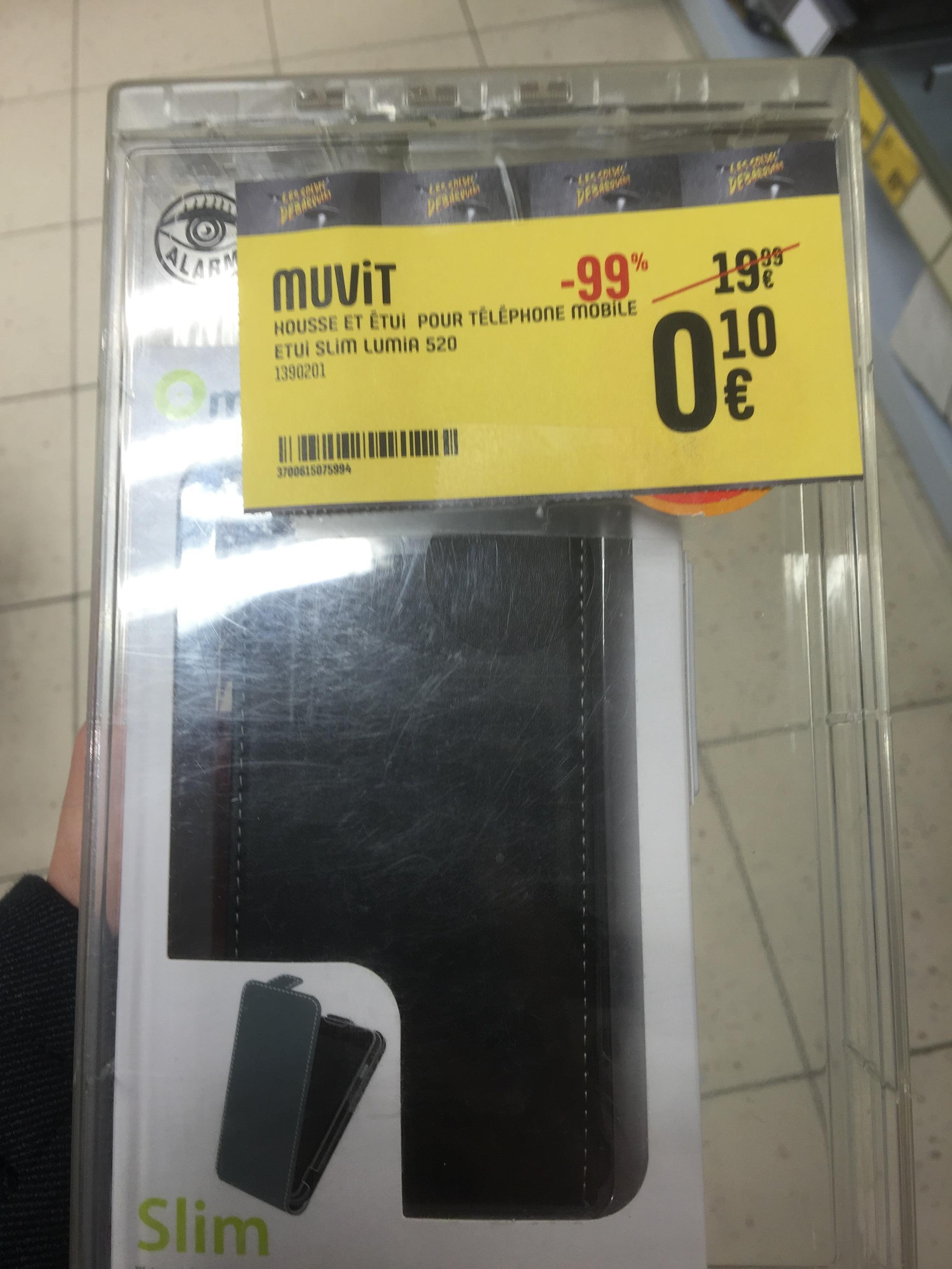 Etui à clapet Muvit Slim pour smartphone Nokia Lumia 520