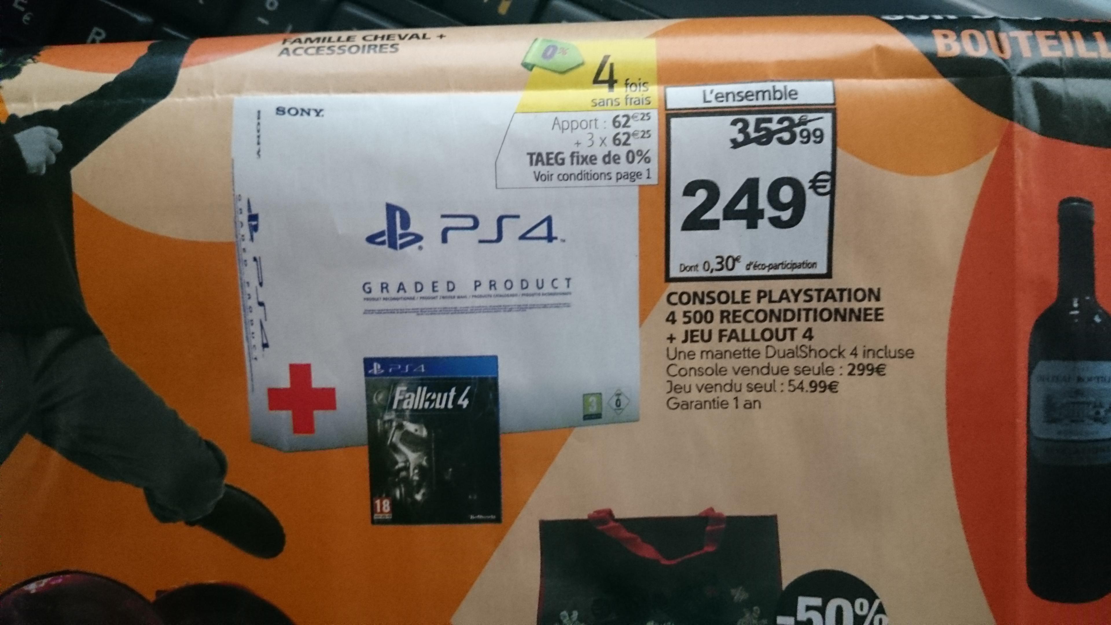 Console Sony PS4 500 Go Reconditionné (garantie 1 an) + Jeu FallOut 4 sur PS4