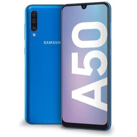 "Smartphone 6.4"" Samsung Galaxy A50 - 4 Go de RAM, 128 Go, Bleu"