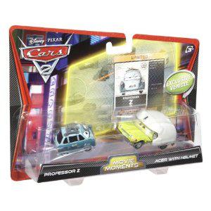 Lot de 2 Véhicules miniature Mattel cars Professor Z