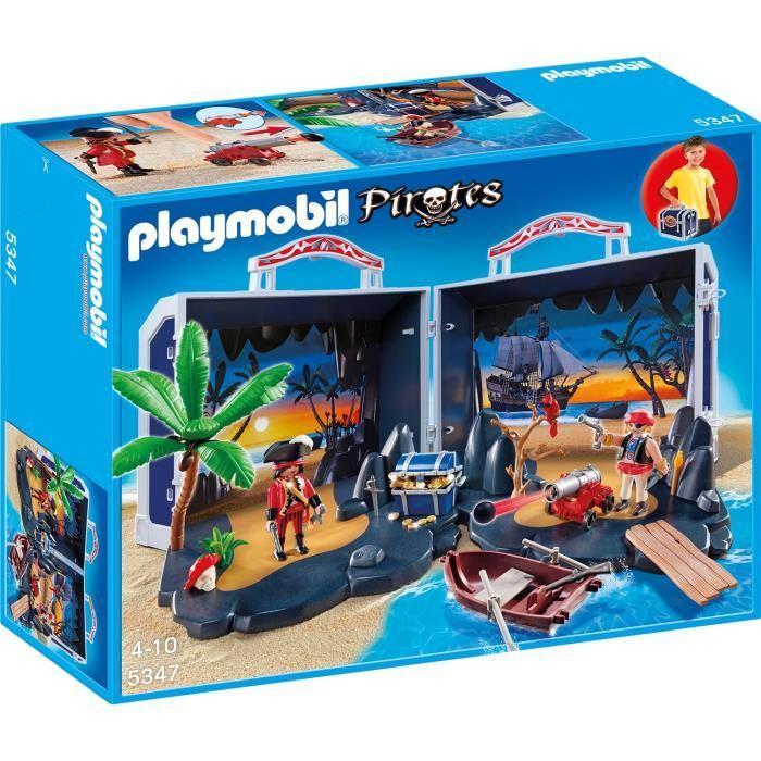 Sélection de Playmobil - Ex : Malette île aux tresors transportable