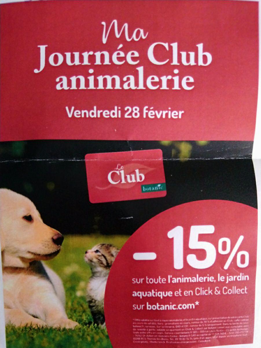 [Membres Club] 15% de réduction sur toute l'animalerie, le jardin aquatique et en Click & Collecte.