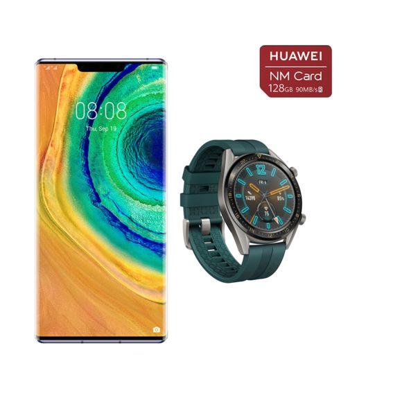 """Smartphone 6.53"""" Huawei Mate 30 Pro - 256 Go + Montre connectée Watch GT + Carte mémoire Nano SD 128 Go (Sans Google Play)"""