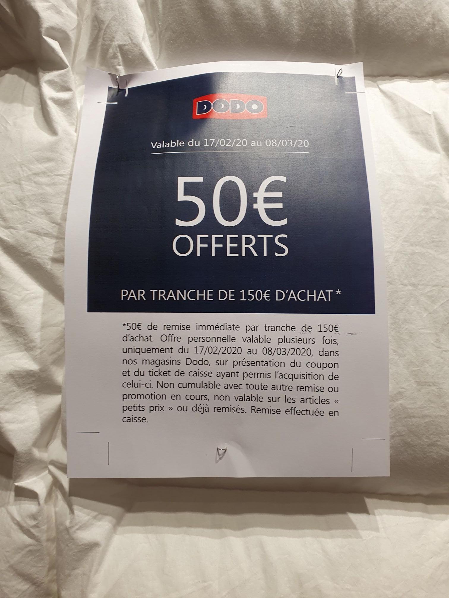 Sélection de couettes Dodo en promotion - Ex : couette ultra-gonflante (260x240 cm, 90% en duvet de canard) - Dodo Outlet Talange (57)