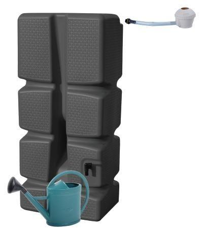 """Kit récupération eau de pluie cuve 310L noir + collecteur + arrosoir 11L Offert - Issenheim et Colmar (68) et magasins opération """"Bon coûts"""""""
