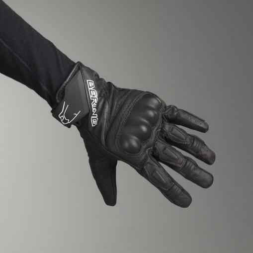 Gants moto été Homme Bering Raven - Cuir perforé, renfort coqué (Taille au choix)