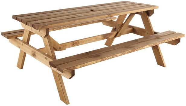 Table de pique-nique en bois Blooma Agad - 6 personnes