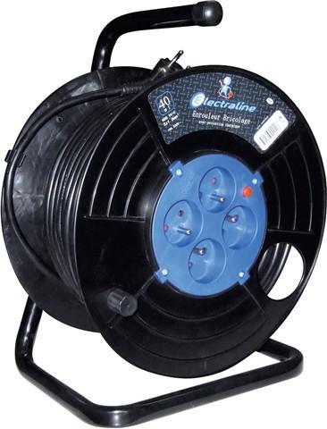 Enrouleur electrique 40 m avec 4 prises + disjoncteur