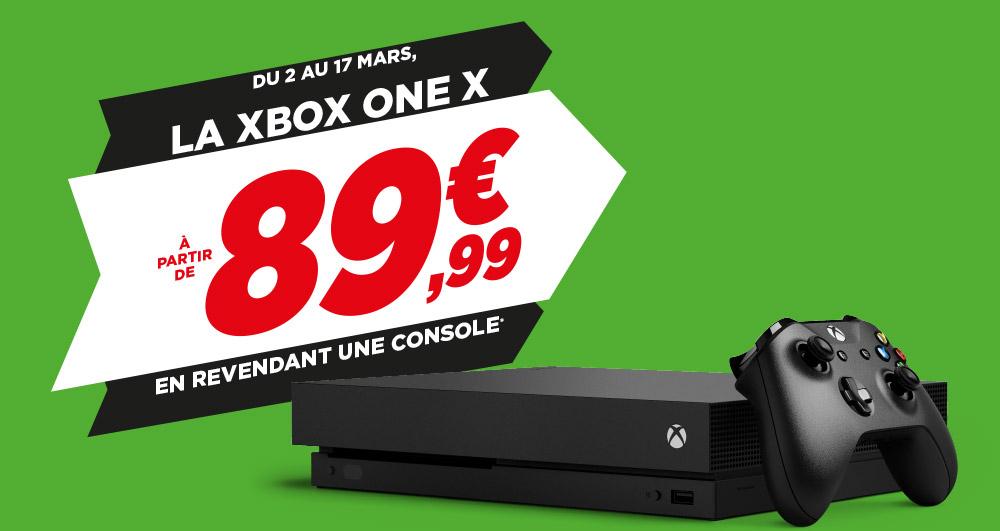 Console Microsoft Xbox One X à partir de 89.99€ en revendant une console parmi une sélection