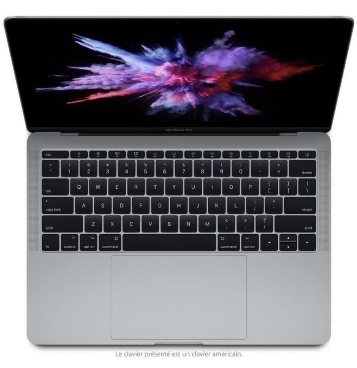 """PC portable 13"""" Apple MacBook Pro 13 (2017) - Core i5, 8 Go de RAM, SSD 128Go, Reconditionné"""