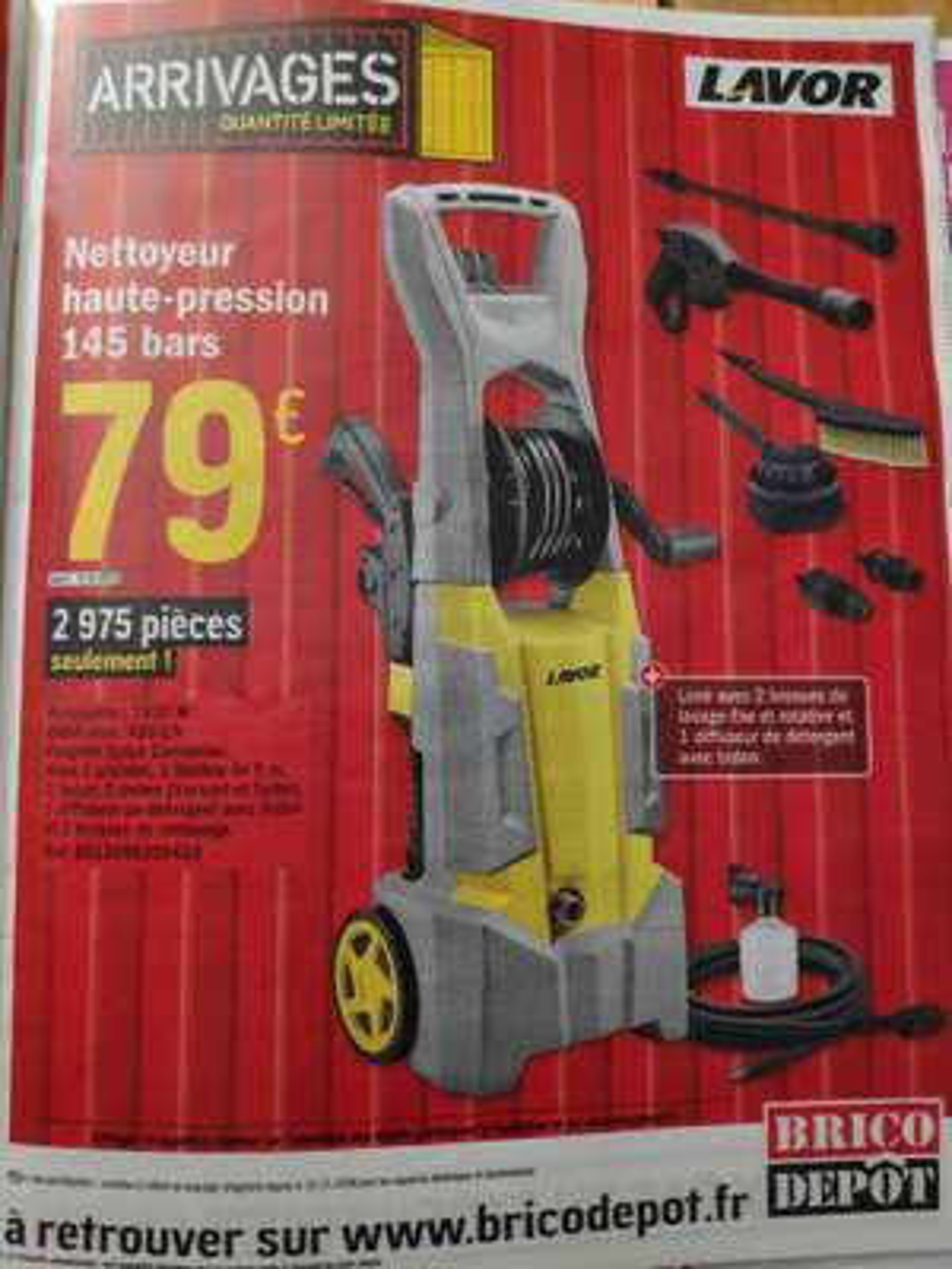 Nettoyeur Haute Pression Lavor - 145 Bars