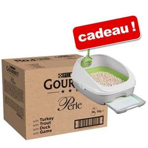 Nourriture humide pour chat Gourmet Perle 96 x 85 g + Kit complet Tidy Cats Breeze
