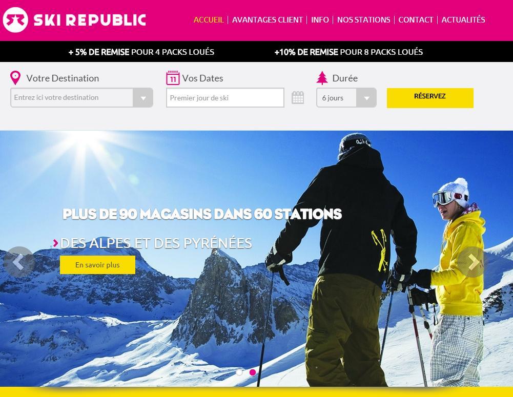 Location de ski - Ski Republic vous Offre 20% de Remise pour 2016!