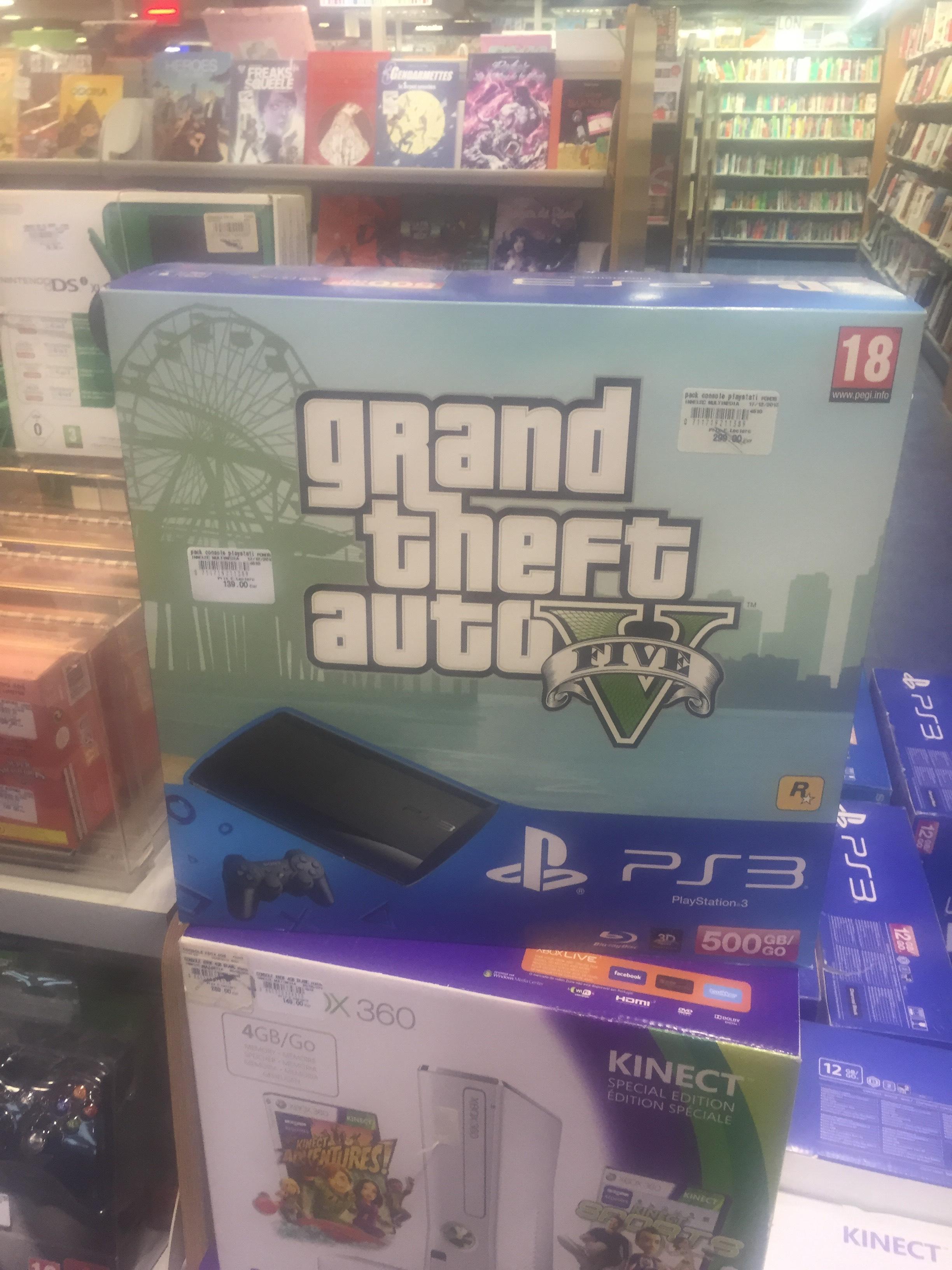 Sélection de packs PS3 soldés - Ex : Pack PS3 500Go + GTA V