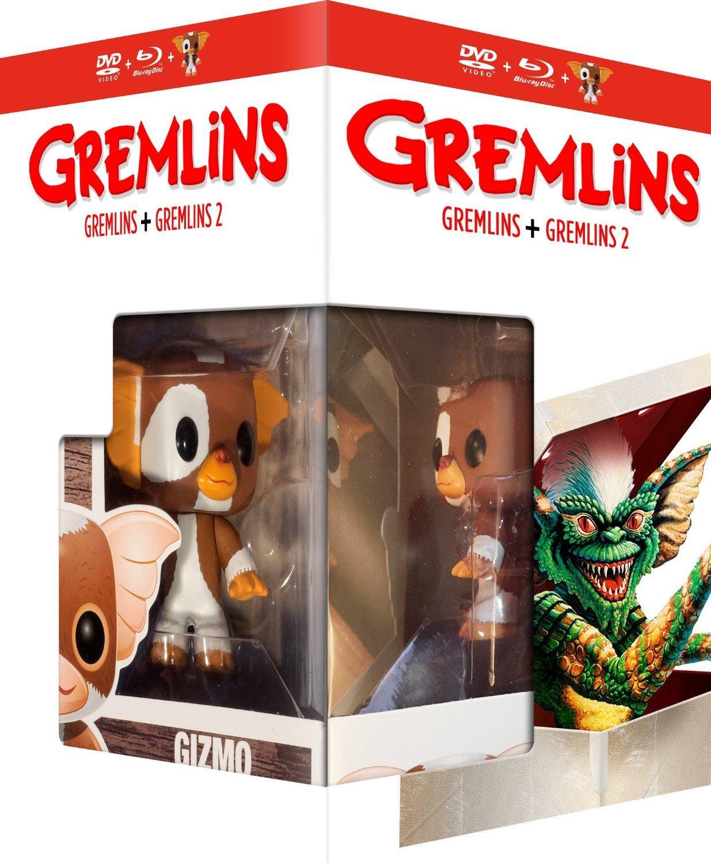 Coffret Blu-ray et DVD Gremlins + Gremlins 2 : La nouvelle génération + Figurine Funko Pop!
