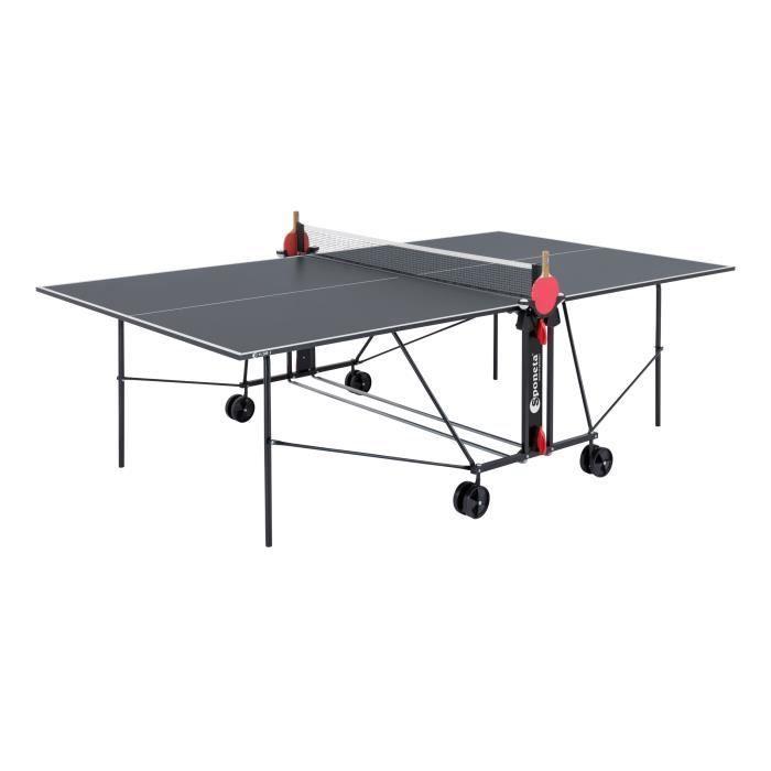 [CDAV] Table de Tennis de table Sponeta - Bleu et Noir, Compacte, Usage extérieur